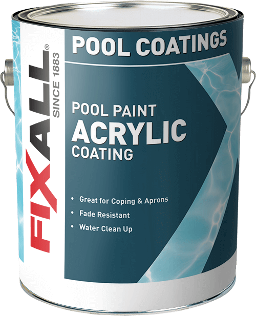 Acrylic pool paint fixall paint for Acrylic paint water resistant