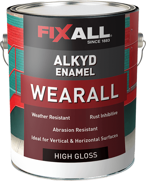 Wearall alkyd enamel fixall paint for What are alkyd paints