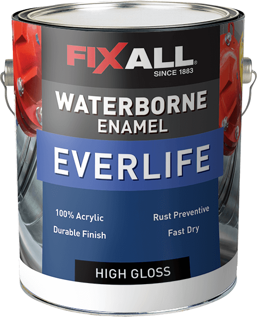 Everlife waterborne enamel fixall paint - Chestnut brown exterior gloss paint ...