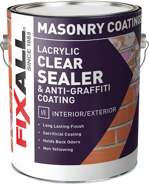 Anti Graffiti Clear Coat For Floors : Lacrylic clear sealer anti graffiti coating fixall paint