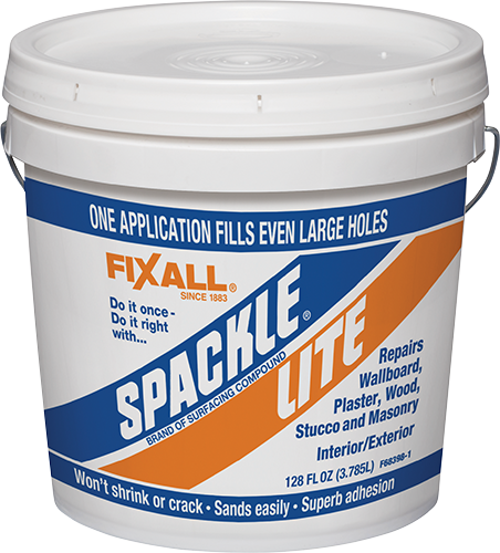 Spackle Lite Fixall Paint