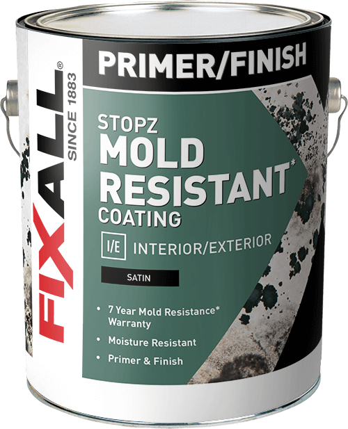 Stopz Mold Resistant Interior And Exterior Primer Finish Fixall Paint